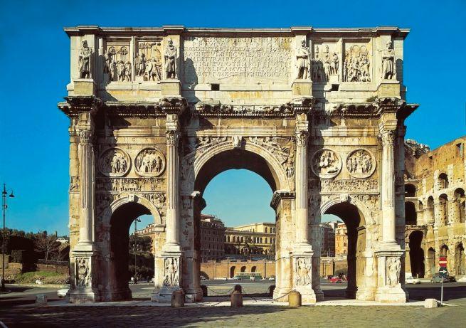 Gli archi trionfali della roma imperiale storia romana e for Archi arredo roma